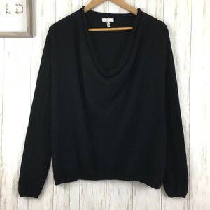 Joie Solid Cashmere Crush Sweater Black Sz XS